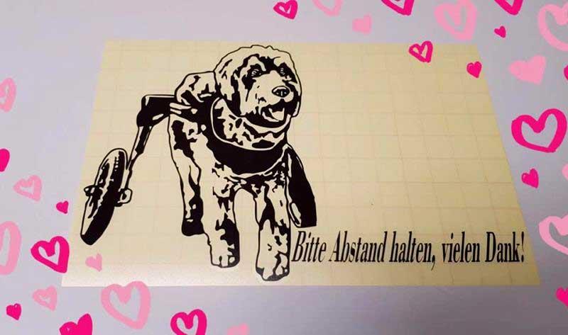 j cut aufkleber gallerie handicap dog 1 - j-cut-aufkleber-gallerie-handicap-dog-1